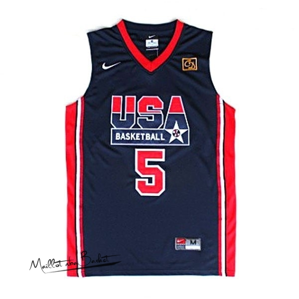 Maillot NBA 1992 USA NO.5 Robinson Noir