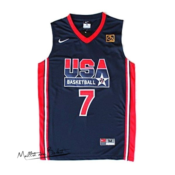 Maillot NBA 1992 USA NO.7 Bird Noir