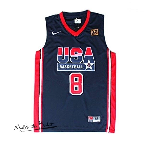 Maillot NBA 1992 USA NO.8 Pippen Noir