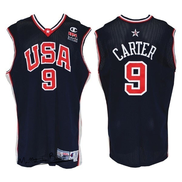 Maillot NBA 2000 USA NO.9 Carter Noir