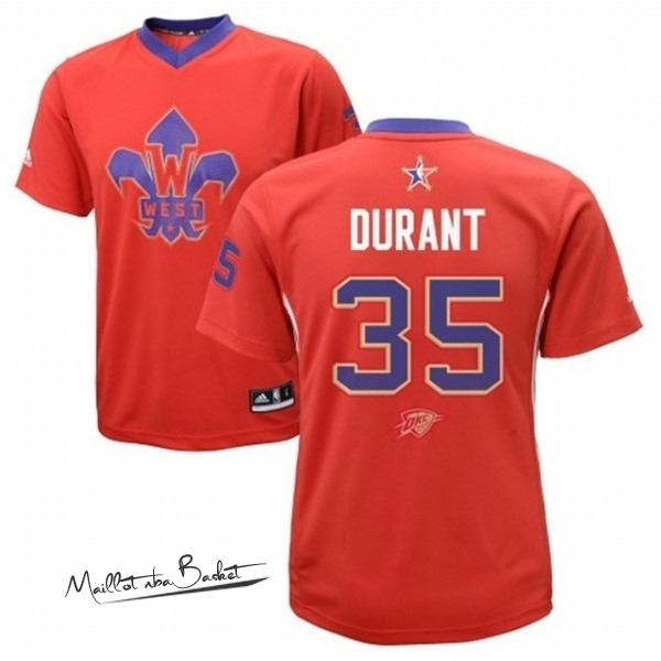 Maillot NBA 2014 All Star NO.35 Kevin Durant Rouge