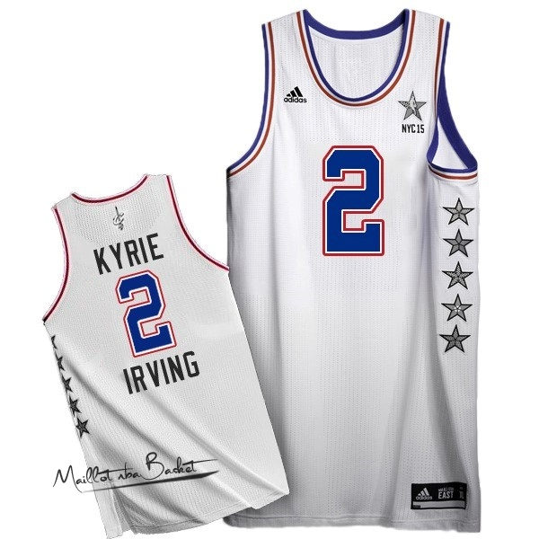 Maillot NBA 2015 All Star NO.2 Kyrie Irving Blanc