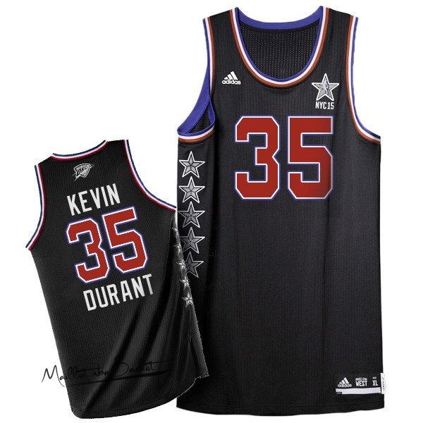 Maillot NBA 2015 All Star NO.35 Kevin Durant Noir