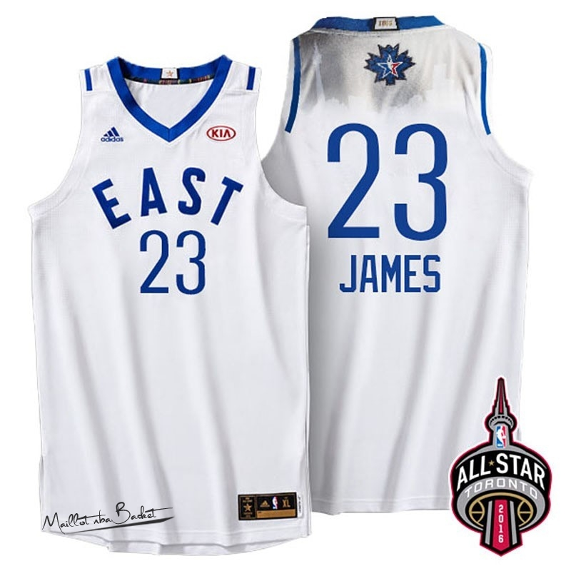 Maillot NBA 2016 All Star NO.23 LeBron James Blanc
