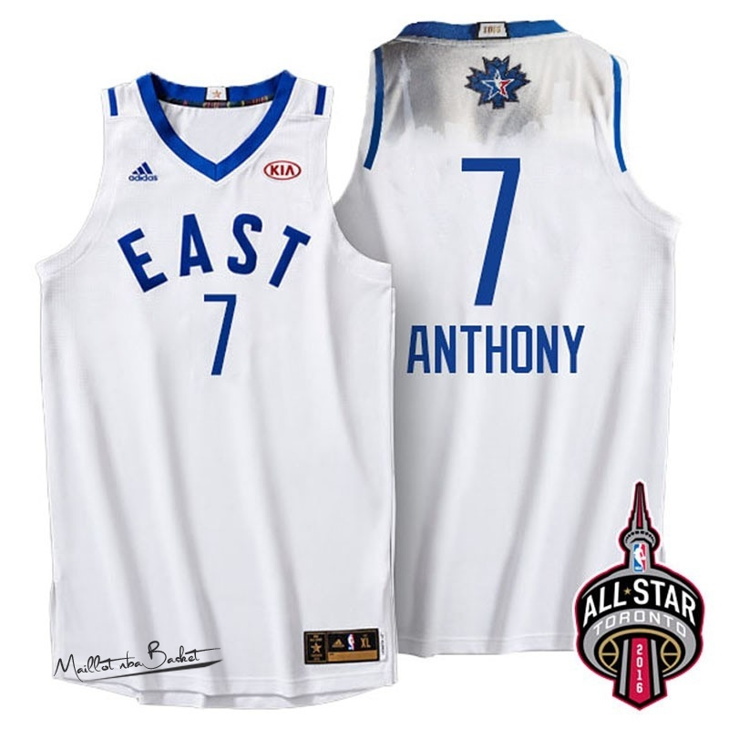 Maillot NBA 2016 All Star NO.7 Carmelo Anthony Blanc