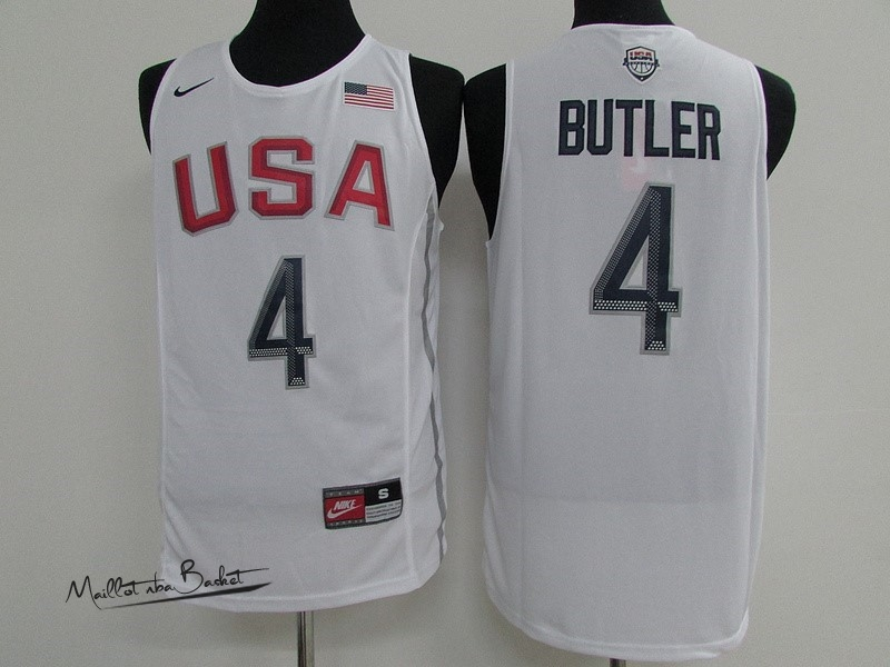Maillot NBA 2016 USA NO.4 Jimmy Butler Blanc
