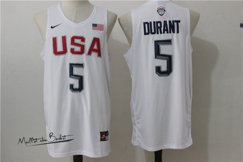 Maillot NBA 2016 USA NO.5 Durant Blanc