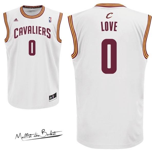 Maillot NBA Cleveland Cavaliers NO.0 Kevin Love Blanc