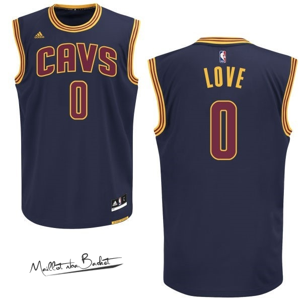 Maillot NBA Cleveland Cavaliers NO.0 Kevin Love Bleu