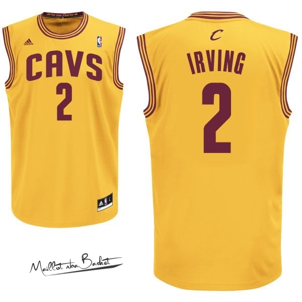Maillot NBA Cleveland Cavaliers NO.2 Kyrie Irving Jaune
