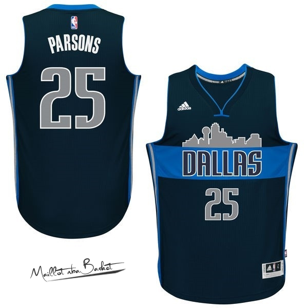 Maillot NBA Dallas Mavericks NO.25 Chandler Parsons Bleu Profond