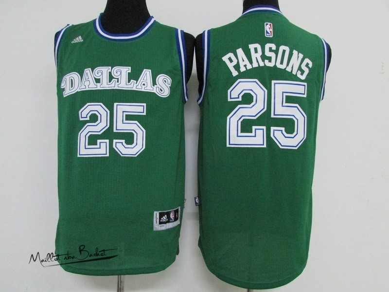 Maillot NBA Dallas Mavericks NO.25 Chandler Parsons Vert