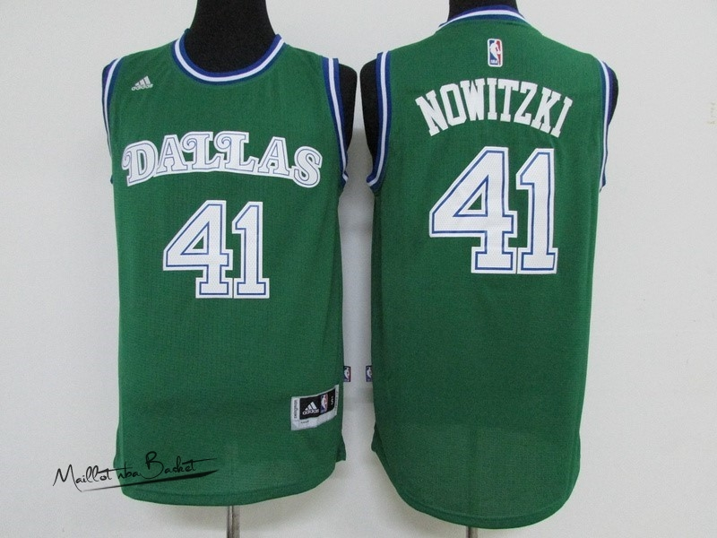 Maillot NBA Dallas Mavericks NO.41 Dirk Nowitzki Vert