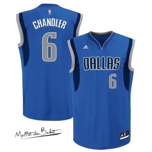 Maillot NBA Dallas Mavericks NO.6 Tyson Chandler Bleu