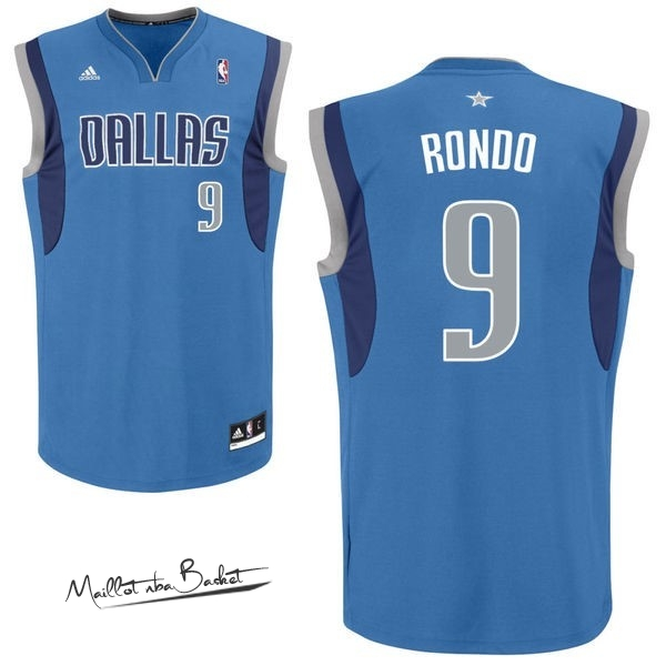 Maillot NBA Dallas Mavericks NO.9 Rajon Rondo Bleu