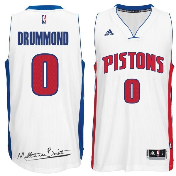 Maillot NBA Detroit Pistons NO.0 Andre Drummond Blanc