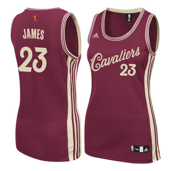 Maillot NBA Femme 2015-2016 Noël NO.23 LeBron James Rouge