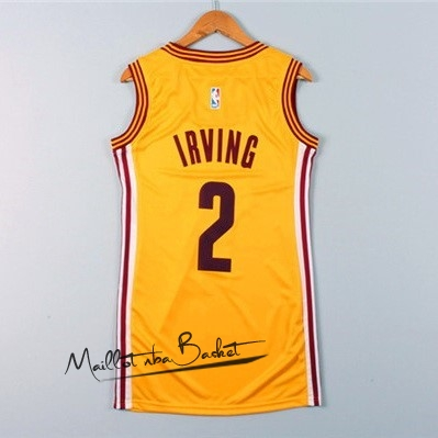 Maillot NBA Femme Cleveland Cavaliers NO.2 Kyrie Irving Jaune