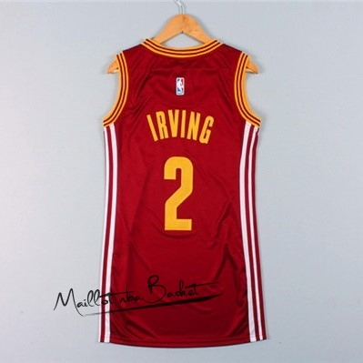 Maillot NBA Femme Cleveland Cavaliers NO.2 Kyrie Irving Rouge