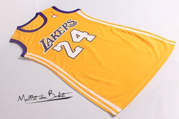 Maillot NBA Femme Los Angeles Lakers NO.24 Kobe Bryant Jaune