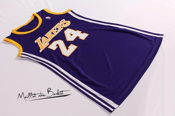 Maillot NBA Femme Los Angeles Lakers NO.24 Kobe Bryant Pourpre