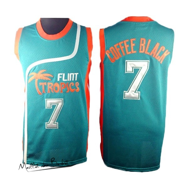 Maillot NBA Film Basket-Ball Flint Hill NO.7 Coffee Noir Bleu