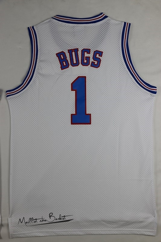Maillot NBA Film Basket-Ball Tune Squad NO.1 Bugs Blanc