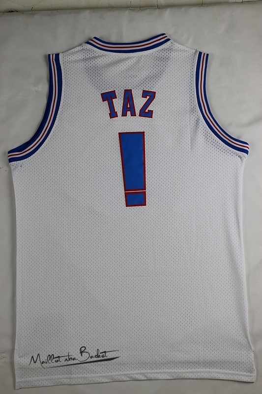 Maillot NBA Film Basket-Ball Tune Squad Taz Blanc
