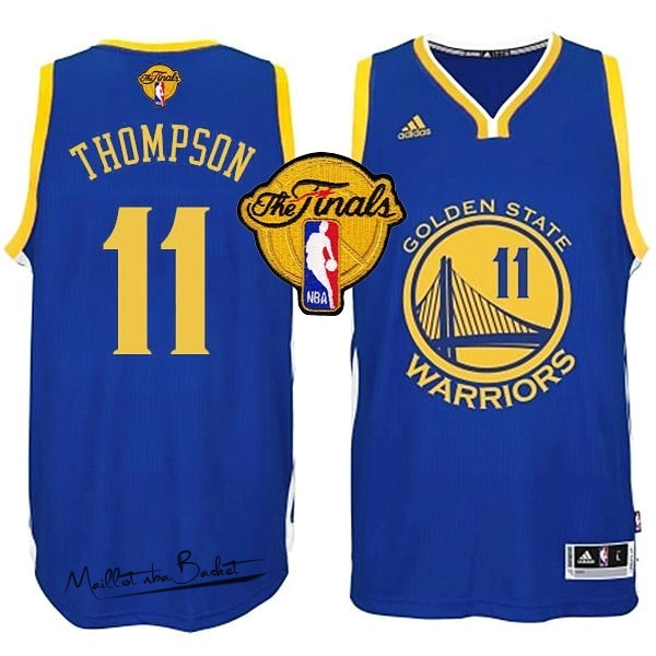 Maillot NBA Golden State Warriors Finales NO.11 Thompson Bleu