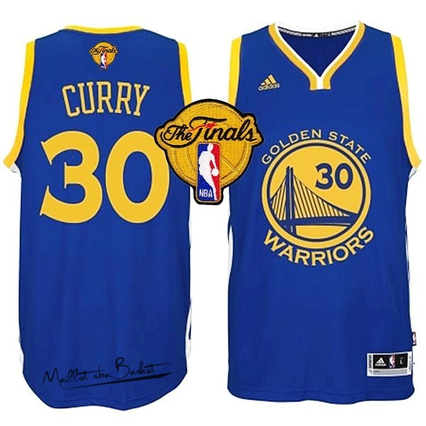 Maillot NBA Golden State Warriors Finales NO.30 Curry Bleu