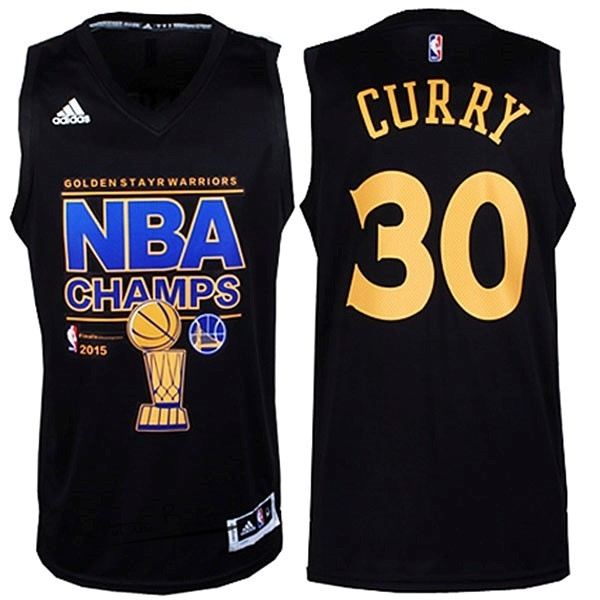 Maillot NBA Golden State Warriors Finales NO.30 Curry Noir