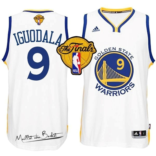 Maillot NBA Golden State Warriors Finales NO.9 Iguodala Blanc