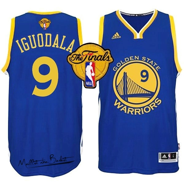Maillot NBA Golden State Warriors Finales NO.9 Iguodala Bleu