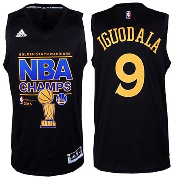Maillot NBA Golden State Warriors Finales NO.9 Iguodala Noir