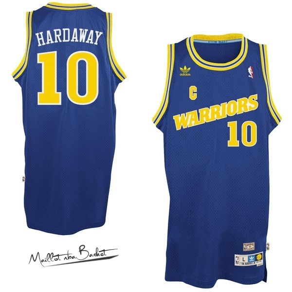 Maillot NBA Golden State Warriors NO.10 Anfernee Hardaway Retro Bleu