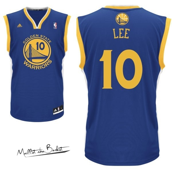 Maillot NBA Golden State Warriors NO.10 David Lee Bleu