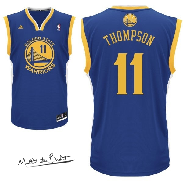Maillot NBA Golden State Warriors NO.11 Klay Thompson Bleu