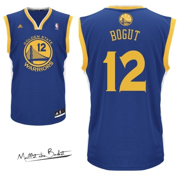 Maillot NBA Golden State Warriors NO.12 Andrew Bogut Bleu