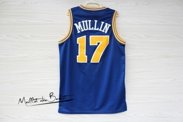 Maillot NBA Golden State Warriors NO.17 Chris Mullin Bleu