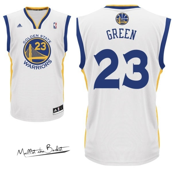 Maillot NBA Golden State Warriors NO.23 Draymond Green Blanc