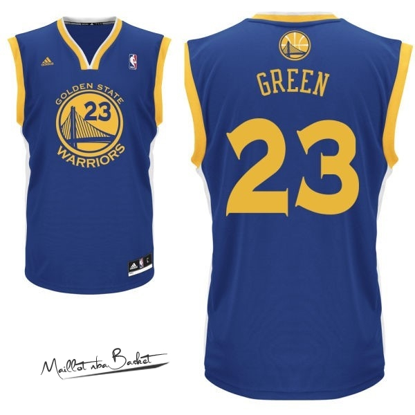 Maillot NBA Golden State Warriors NO.23 Draymond Green Bleu