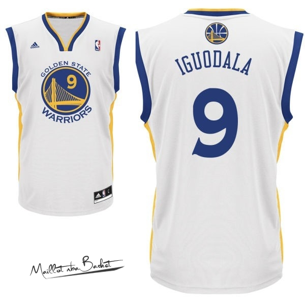 Maillot NBA Golden State Warriors NO.9 Andre Iguodala Blanc