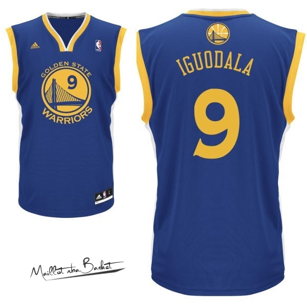 Maillot NBA Golden State Warriors NO.9 Andre Iguodala Bleu