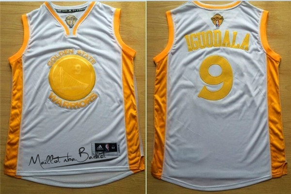 Maillot NBA Golden State Warriors NO.9 Andre Iguodala Or