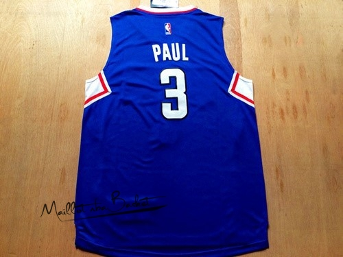 Maillot NBA Los Angeles Clippers NO.3 Chris Paul Bleu