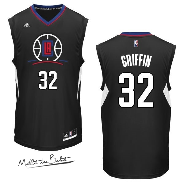 Maillot NBA Los Angeles Clippers NO.32 Blake Griffin Noir