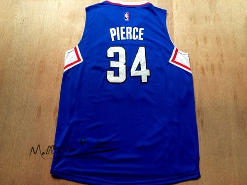 Maillot NBA Los Angeles Clippers NO.34 Paul Pierce Bleu