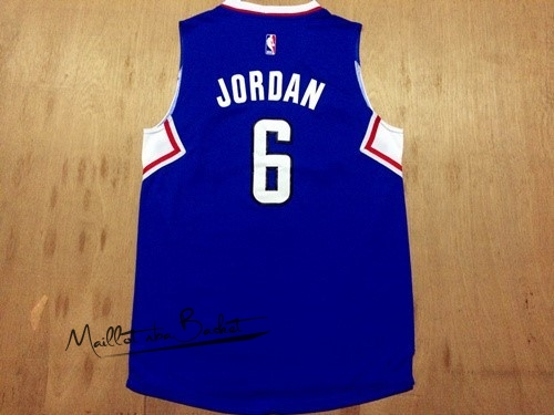Maillot NBA Los Angeles Clippers NO.6 DeAndre Jordan Bleu