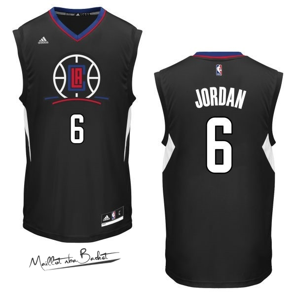 Maillot NBA Los Angeles Clippers NO.6 DeAndre Jordan Noir