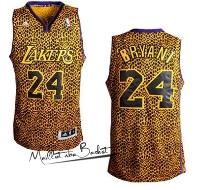 Maillot NBA Los Angeles Lakers Luz Léopard NO.24 Bryant Dorado